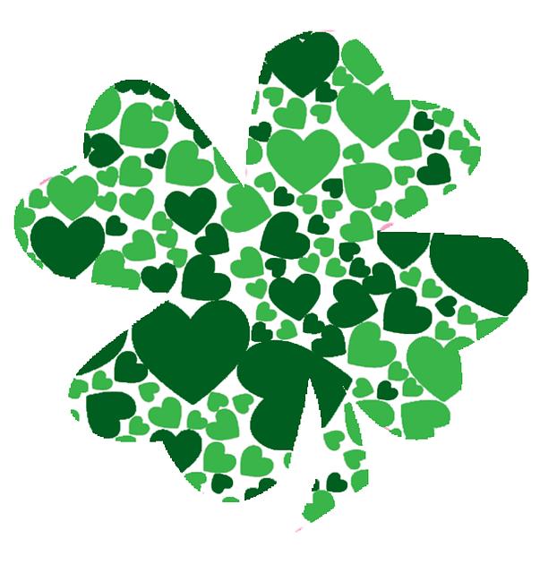 green shamrock march love spring hearts clover 2